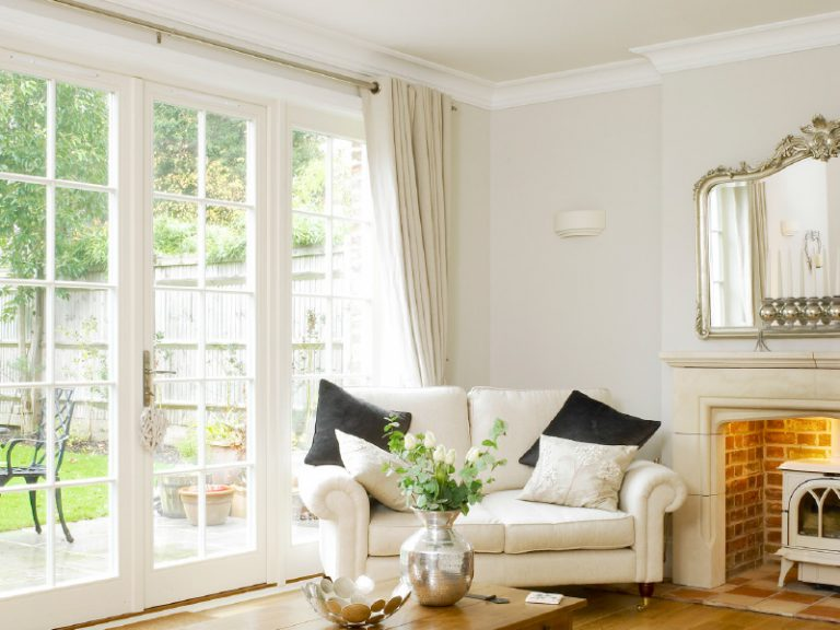 French doors with bars