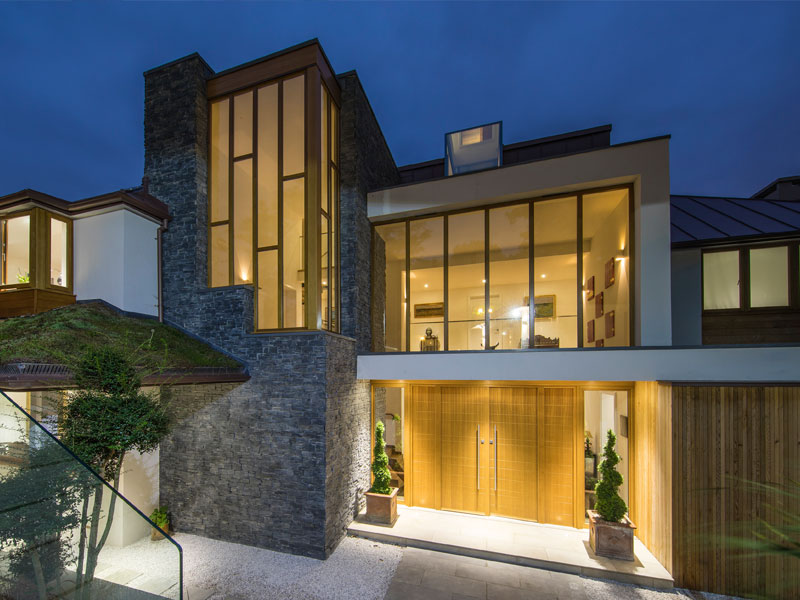 Luxury house in Wimbledon with large screens