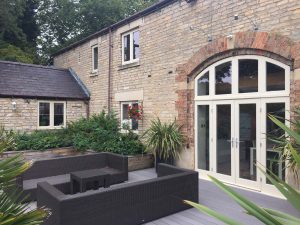 Bespoke curved french doors