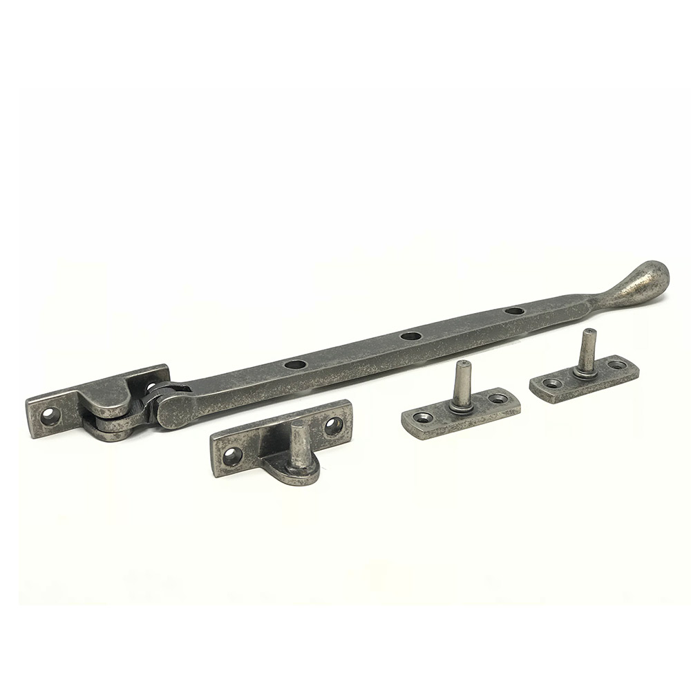 Bulb End Casement Stay Rumbled Pewter