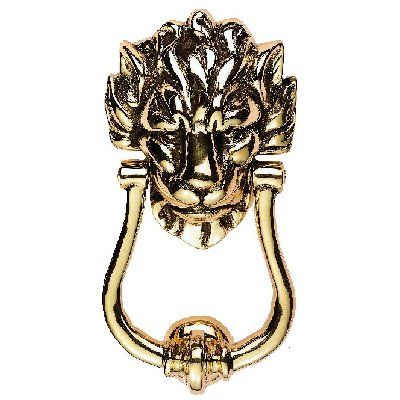 Downing Street Door Knocker Polished Brass