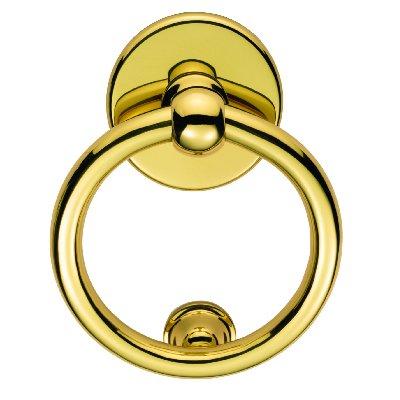 Ring Door Knocker Polished Brass