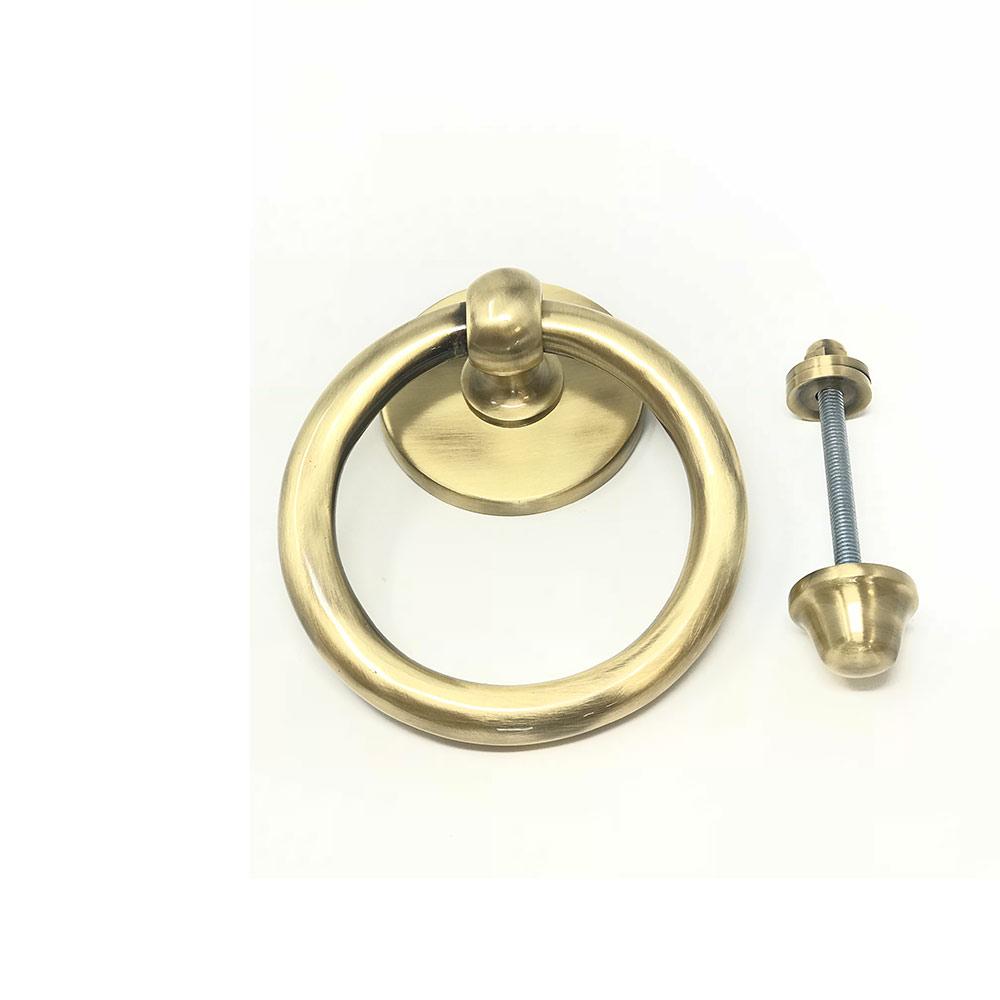 Ring Door Knocker Rumbled Brass