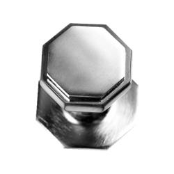 Flat Octagonal Centre Door Knob - Satin Chrome