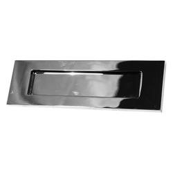 Victorian Letter Plate Polished Chrome