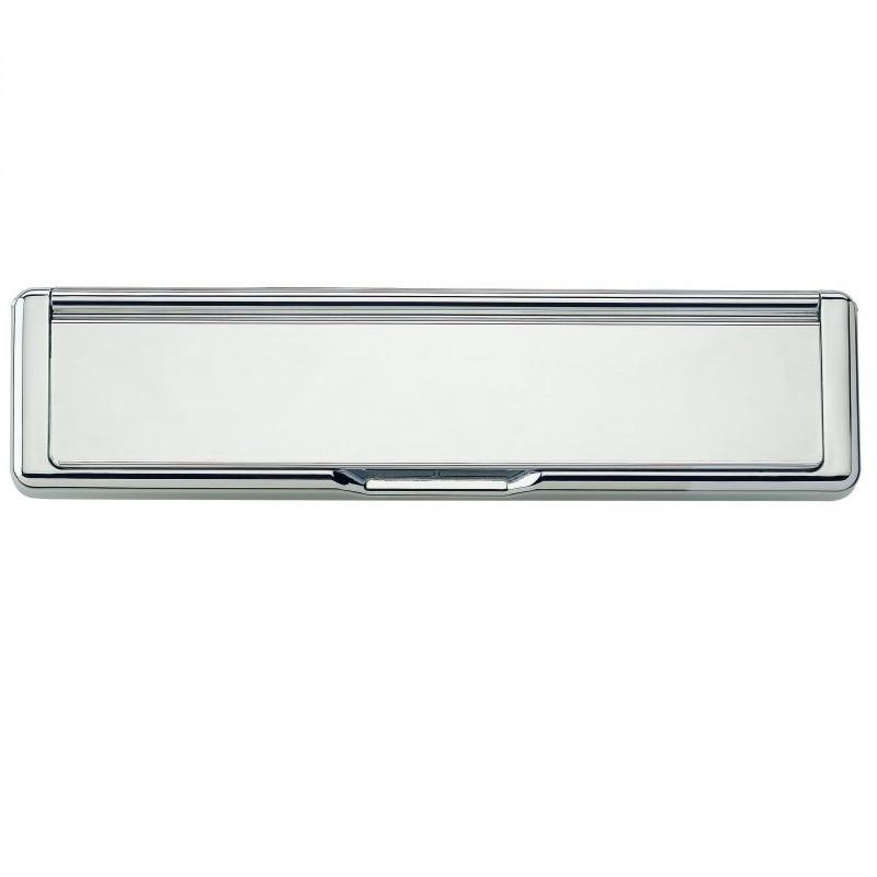 Draught Dodger Letter Plate Polished Chrome
