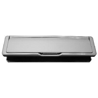 Draught Dodger Letter Plate Satin Chrome