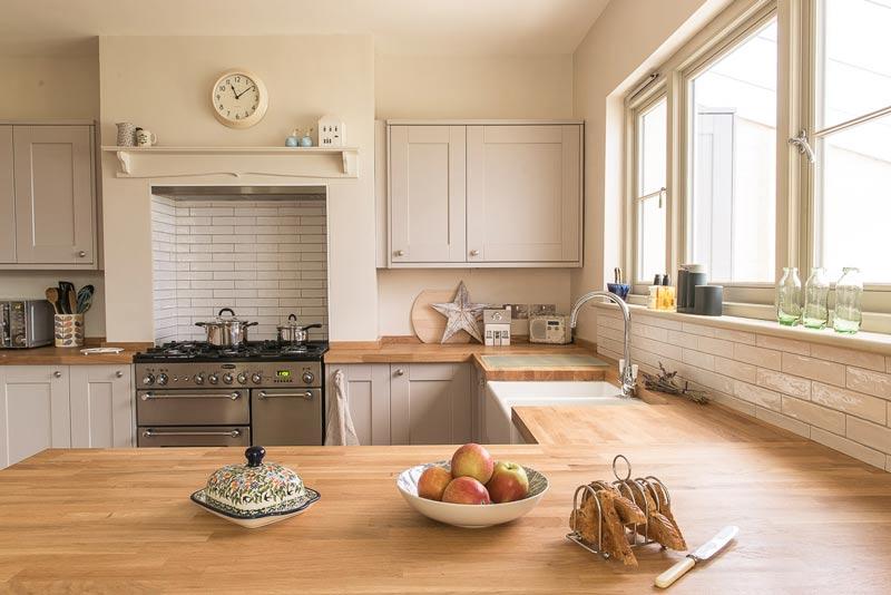 Modern kitchen casement windows