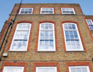 Fulhum boys school curved sash windows