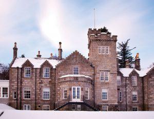 Glentruim Castle in the snow
