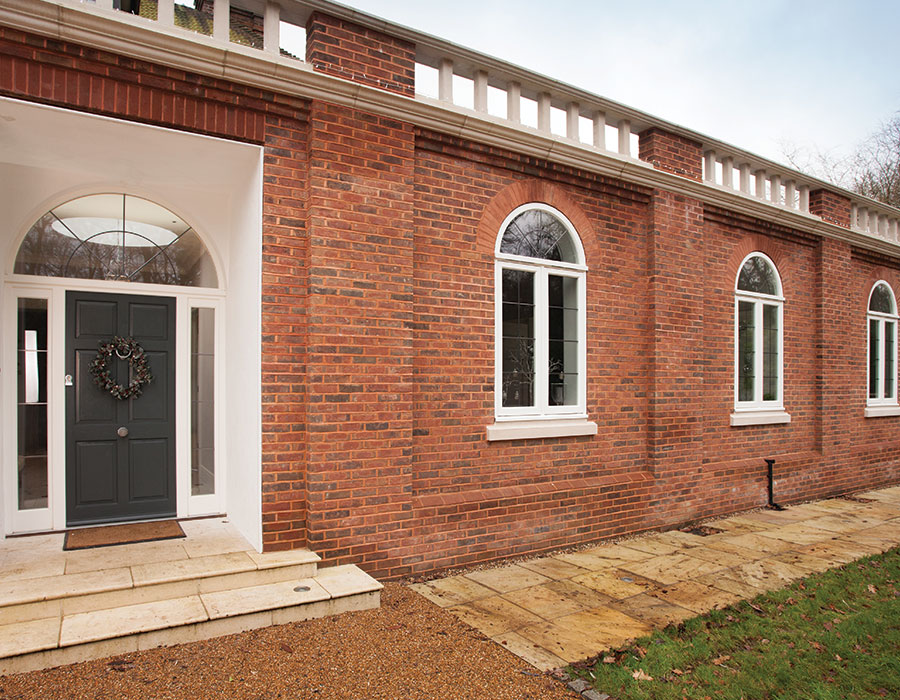 Bereco Flush Casement Timber Windows with curved fanlight