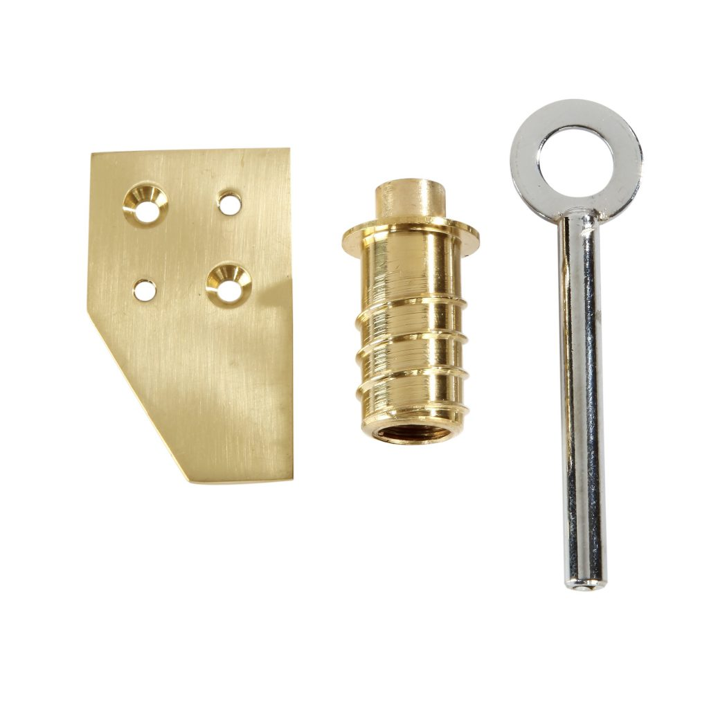Polished Brass Vent Lock