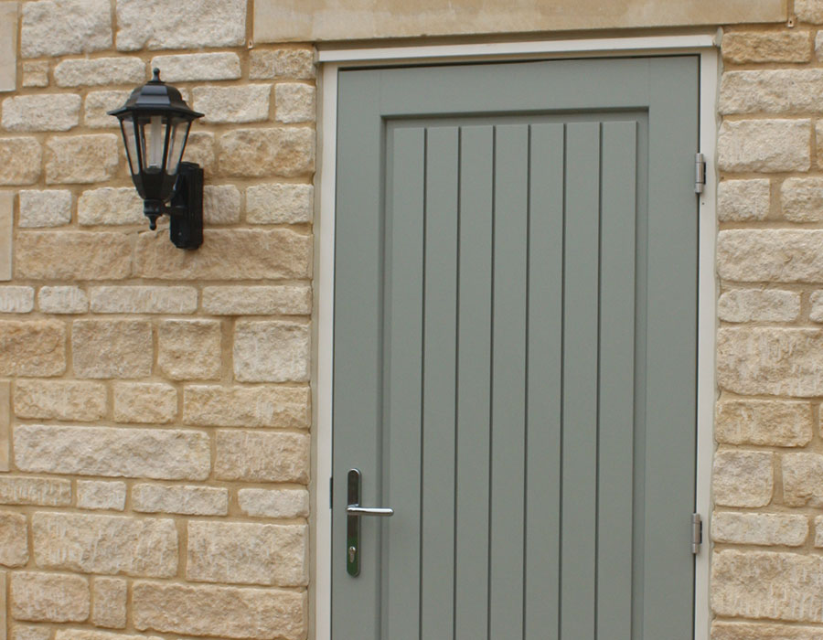 Softwood timber back door by Bereco - Seagate Homes