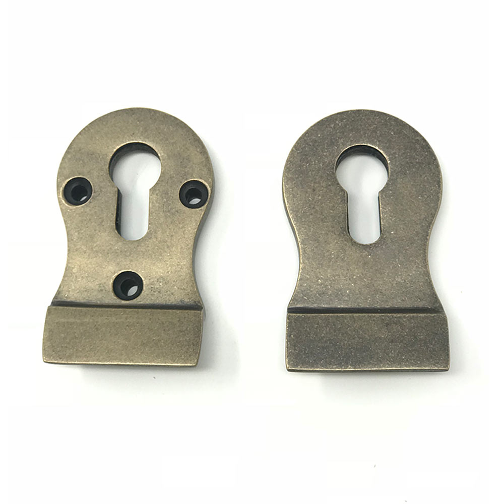 Euro Cylinder Pull Rumbled Brass