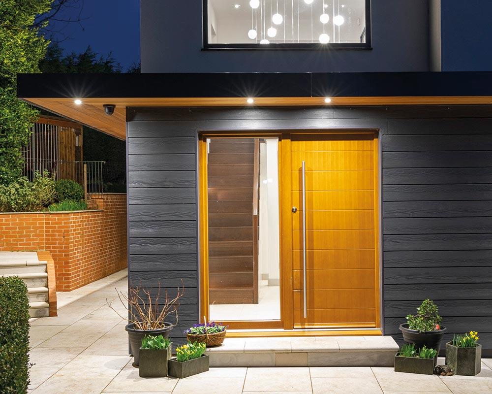 large creative range door with pull handle