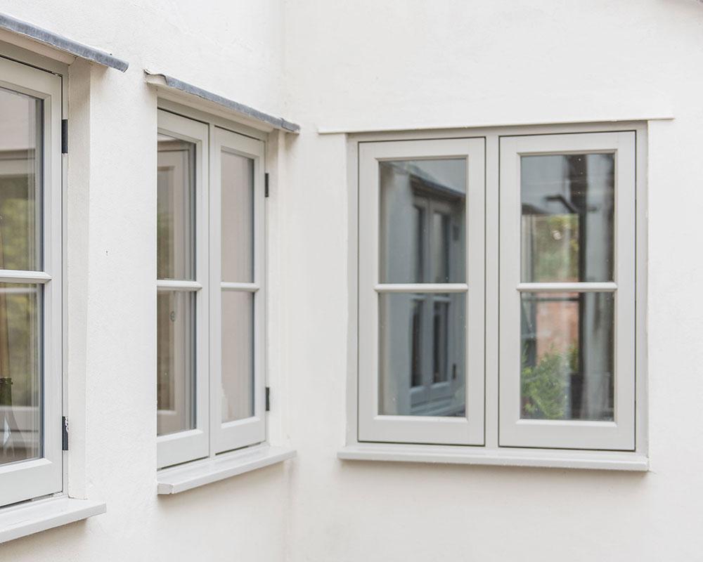 Flush casement timber windows