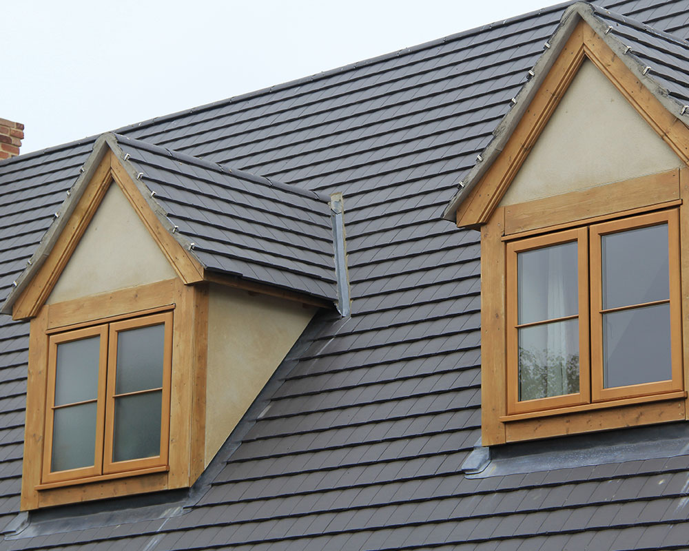stained lipped casement windows