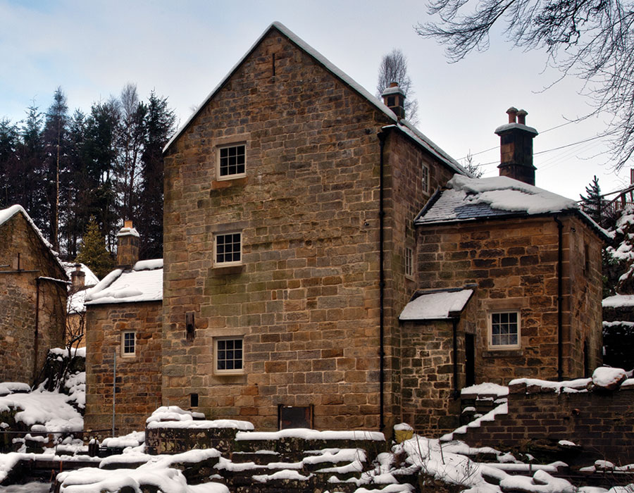 Thrum Mill in the snow