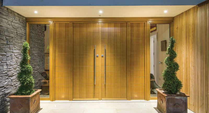 Modern timber doors by Bereco